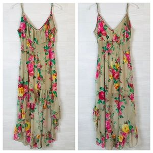 Beautiful floral summer ruffled sun dress medium